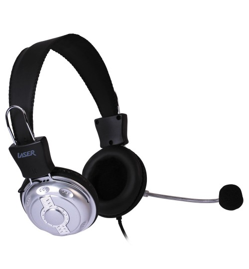 LASER HEADSET STEREO VOIP WITH VOLUME CONTROL