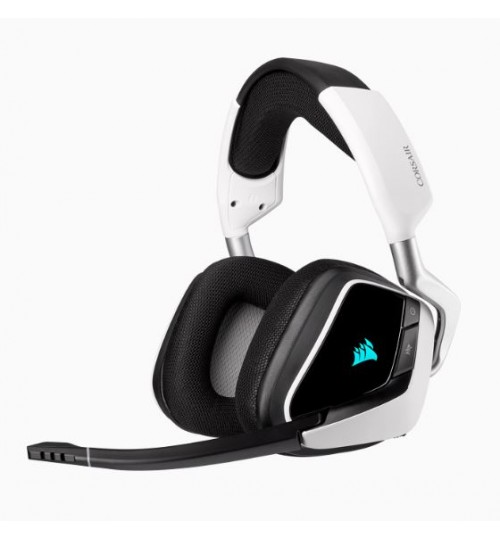 CORSAIR VOID RGB ELITE WIRELESS PREMIUM GAMING HEADSET WITH 7.1 SURROUND SOUND - WHITE