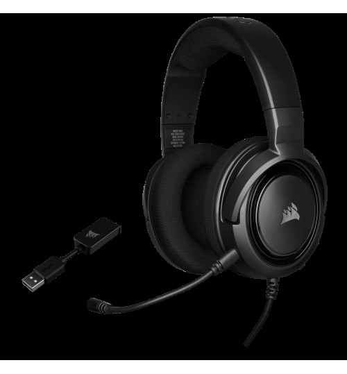 CORSAIR HS45 SURROUND GAMING HEADSET - BLACK
