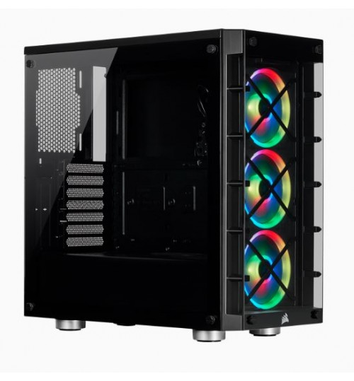 CORSAIR CRYSTAL 465X RGB TEMPERED GLASS MID-TOWER SMART CASE - BLACK