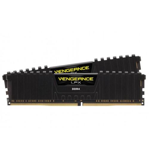 CORSAIR CMK16GX4M2A2666C16 DDR4 2666MHZ 16GB 2X288 UNBUFFERED 16-18-18-35 VENGEANCE LPX BLACK HEATSPREADER 1.2V XMP2.0 SUPPORTS 6TH INTEL CORE I5/I7