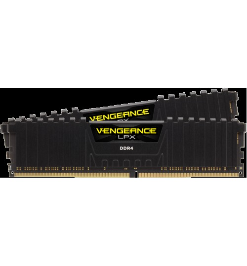 CORSAIR CMK16GX4M2B3000C15 DDR4 3000MHz 16GB 2 x 288 DIMM Unbuffered 15-17-17-35 Vengeance LPX Black Heat spreader 1.35V XMP 2.0 Supports 6th I