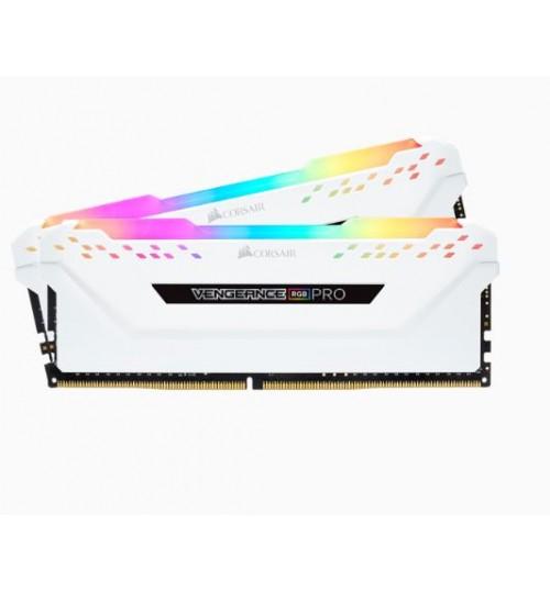 CORSAIR CMW16GX4M2A2666C16W DDR4 2666MHZ 16GB 2 X 288 DIMM UNBUFFERED VENGEANCE RGB PRO WHITE HEAT SPREADERRGB LED 1.2V