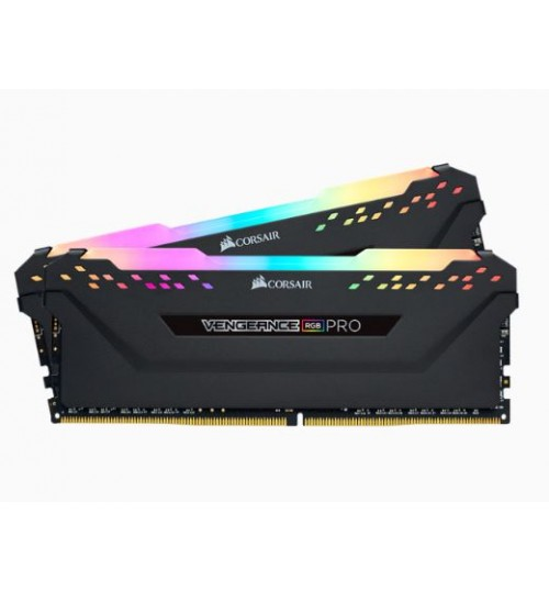 CORSAIR CMW16GX4M2C3200C16 DDR4 3200MHZ 16GB 2 X 288 DIMM UNBUFFERED VENGEANCE RGB PRO BLACK HEAT SPREADER RGB LED 1.35V