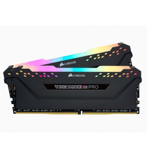 CORSAIR CMW32GX4M2A2666C16 DDR4 2666MHZ 32GB 2 X 288 DIMM UNBUFFERED 16-18-18-35 VENGEANCE RGB PRO BLACK HEAT SPREADERRGB LED 1.35V XMP 2.0