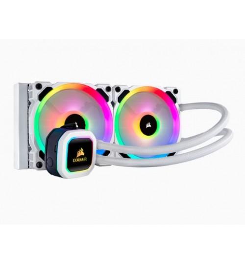 CORSAIR HYDRO SERIES H100I RGB PLATINUM SPECIAL EDITION 240MM LIQUID CPU COOLER - WHITE