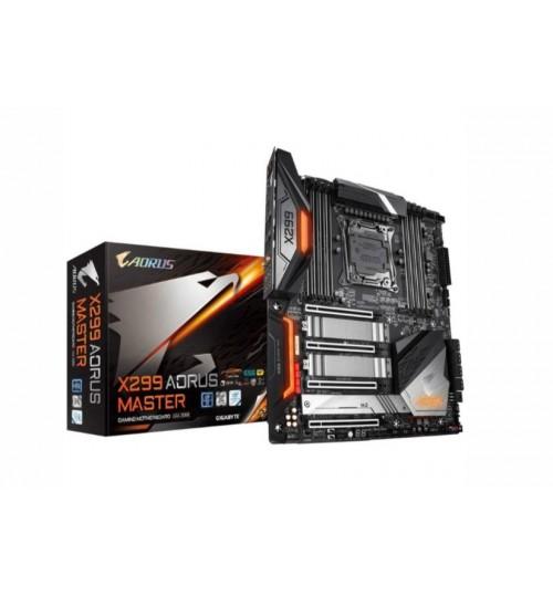 Gigabyte Aorus X299X AORUS MASTER ATX For Intel X Series CPU LGA2066 8X DDR4 DIMM 3XM.2 9X USB 1XType C Dual Lan Wifi AX+ BT