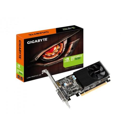 GIGABYTE GEFORCE GT1030 2GB GDDR5 GRAPHICS CARD GPU UPTO 1506 MHZ SINGLE FAN 1 SLOT DVI+ HDMI 150MM LENGTH MAX 2 DISPLAY LOW PROFILE SUPPORT