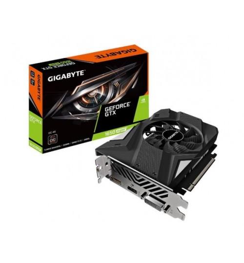 Gigabyte GeForce GTX 1650 SUPER OC 4G GPU Upto 1740MHz Single Fan 2 Slots DP HDMI DVI 1X 6 Pin 172mm Length Max 3 Display