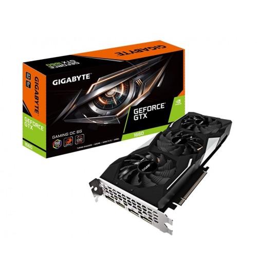 Gigabyte GeForce GTX 1660 SUPER GAMING OC 6G GDDR6 GPU Upto 1860MHz 3XFans 2 Slots 3XDP 1XHDMI 1X8 Pin 280mm Length Max 4 Display