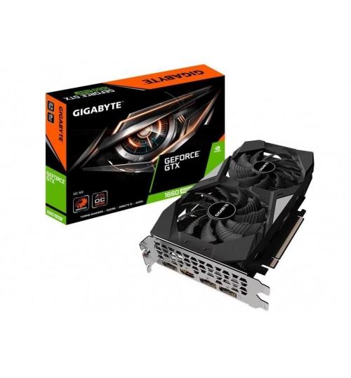 Gigabyte GeForce GTX 1660 SUPER OC 6G GDDR6 GPU Upto 1830MHz Dual Fans 2 Slots 3XDP. 1XHDMI 1x8 Pin 226mm Length Max 4 Display