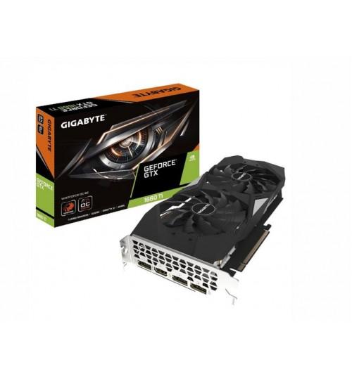GIGABYTE GEFORCE GTX 1660 TI WINDFORCE OC GRAPHICS CARD 2 X WINDFORCE FANS 6GB 192-BIT GDDR6 3 YS W