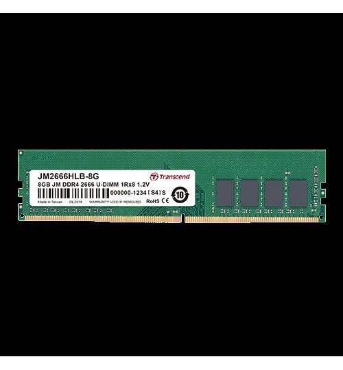 TRANSCEND 8GB JM DDR4 2666 U-DIMM 1RX8 1GX8 CL19 1.2V