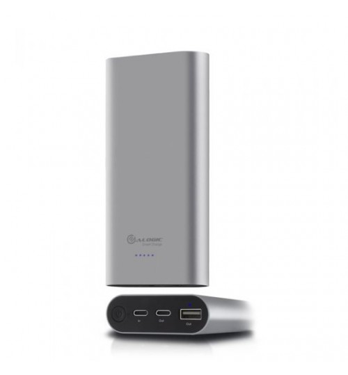 ALOGIC USB-C 15200MAH PORTABLE POWER BANK - SPACE GREY WITH POWER DELIVERY- W/ USB A TO USB-C + MICRO USB CABLE & USB-C TO USB-C CABLES
