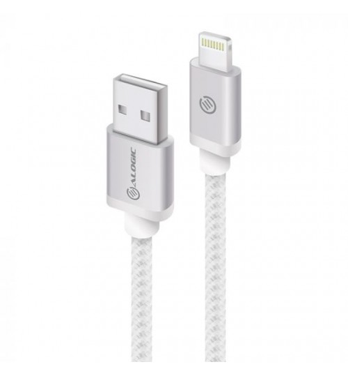 ALOGIC PRIME LIGHTNING TO USB CHARGE & SYNC CABLE-30CM SILVER(APPLE CERTIFIED UNDER MFI)