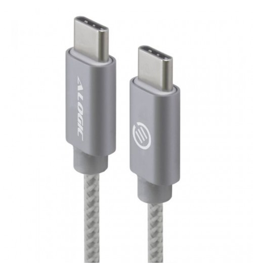 ALOGIC 3M USB 2.0 USB-C TO USB-C CABLE - CHARGE & SYNC - MALE TO MALE - SPACE GREY - PRIME SERIES