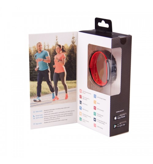 LASER ACTIVITY FITNESS TRACKER WITH HR COMES WITH  TWO BANDS