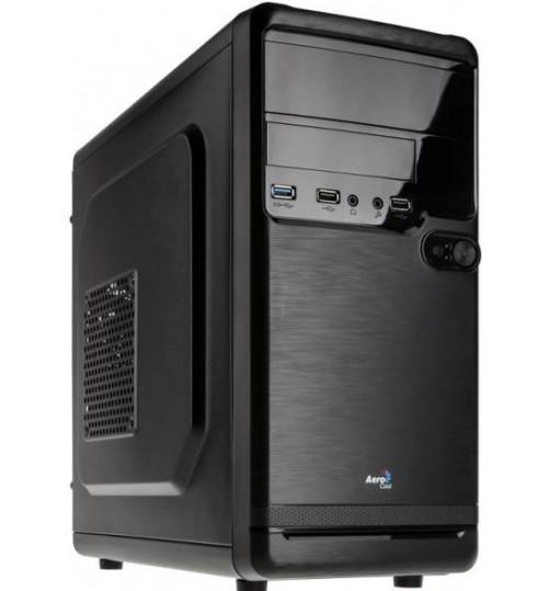 AEROCOOL QS-182 MICRO-ATX CHASSIS - BLACK WITH  SUPPORTS INTERNAL 2X3.5HDD OR 3X2.5HDD/SSD1 X USB3.0 / 2X USB2.0/ HD AUDIO1 X 80MM REAR(NO PSU)
