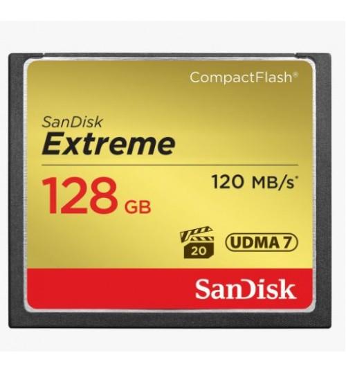 SANDISK EXTREME CF CFXSB 128GB VPG20 UDMA 7 120MB/S R 85MB/S W 4X6 LIFETIME LIMITED
