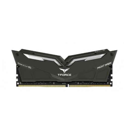 TEAM T-FORCE NIGHT HAWK BLACK HS WITH RGB LED 16GB (8GB X 2) DDR4-3200 GAMING MEMORY