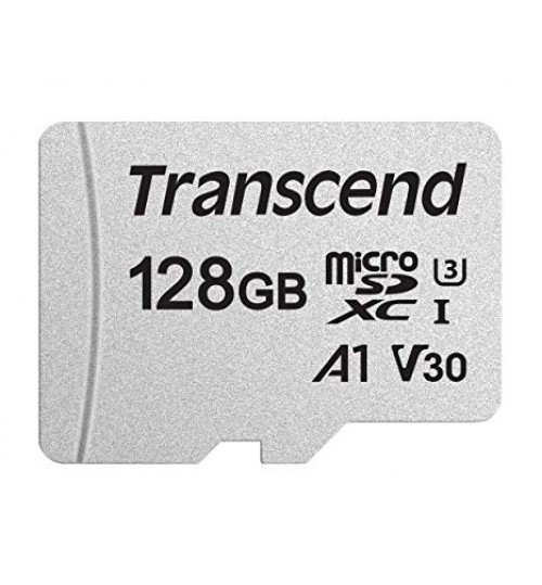 TRANSCEND 128GB UHS-I U3 A1 MICROSD WITH ADAPTER