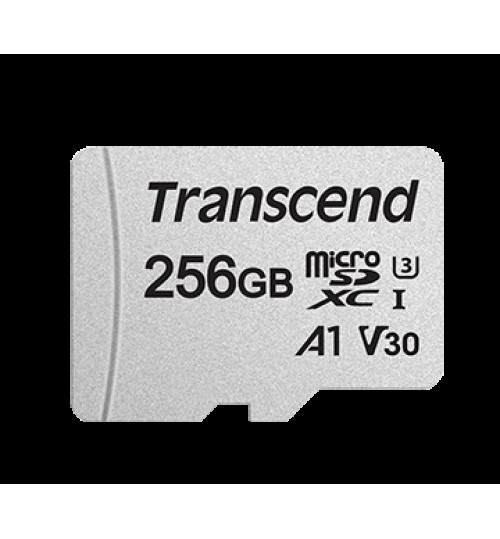 TRANSCEND 256GB UHS-I U3 A1 MICROSD WITH ADAPTER