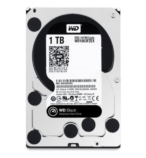 WD BLACK 1000GB (1TB) SATA3 7200RPM 64MB CACHE