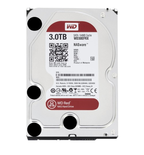 WD RED 3000GB (3TB) SATA3 64MB CACHE FOR NAS