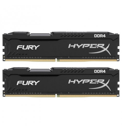 KINGSTON 16GB 3200MHz DDR4 CL15 DIMM (Kit of 2) 1Rx8 HyperX FURY Black