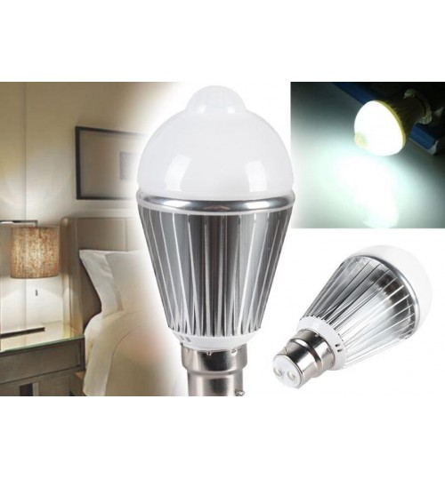B22 LED Bulb motion sensor 5W cool White