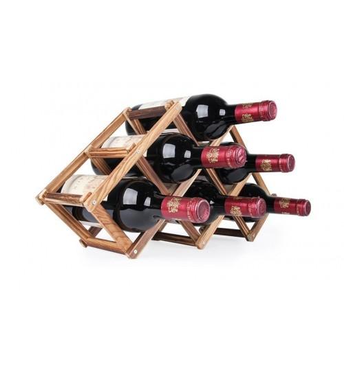 Wooden Bottle Wine Rack 6 pcs