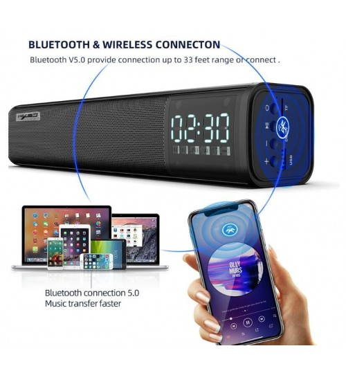 Bluetooth Soundbar Desktop Speaker