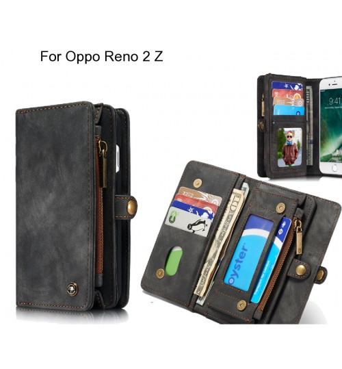 Oppo Reno 2 Z Case Retro leather case multi cards