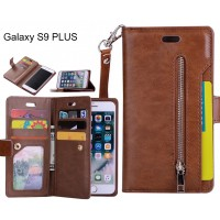 Galaxy S9 PLUS Case Wallet Leather Case With Zip