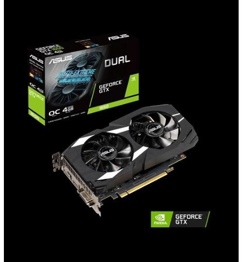 ASUS DUAL-GTX1650-O4G DUAL GEFORCE GTX 1650 4GB OVERCLOCKED GDDR5 PCI-E3.0 DVI-D HDMI DISPLAY PORT