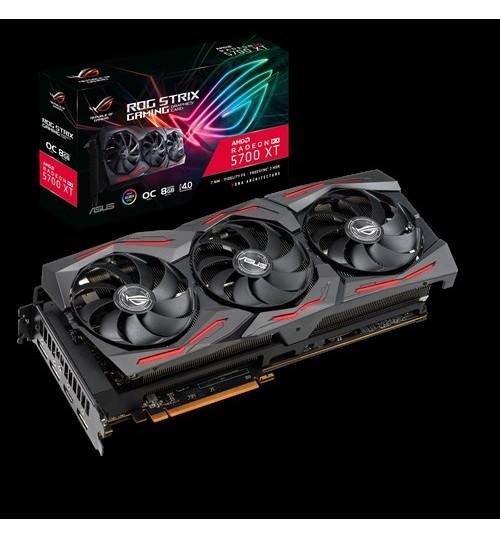 ASUS ROG-STRIX-RX5700XT-O8G-GAMING STRIX AMD RADEON RX 5700 XT OVERCLOCKED 8GB GDDR6 PCI-E4.0 HDMI DISPLAY PORT
