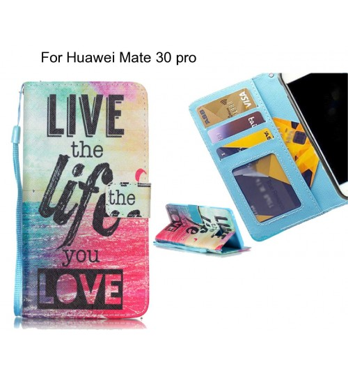 Huawei Mate 30 pro case 3 card leather wallet case printed ID