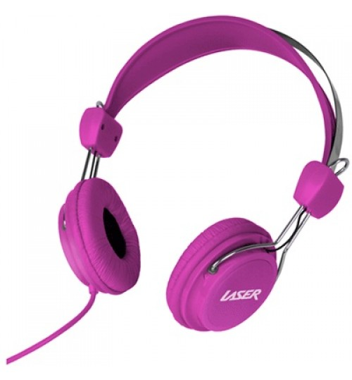LASER KIDS HEADPHONES WITH VOLUME LIMIT - PINK