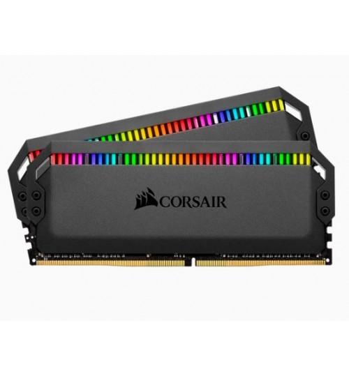 CORSAIR CMT32GX4M2C3200C16 DDR4 3200MHZ 32GB 2X16GB DIMM UNBUFFERED 16-18-18-36 XMP 2.0 DOMINATOR PLATINUM RGB BLACK HEATSPREADER RGB LED 1.35V