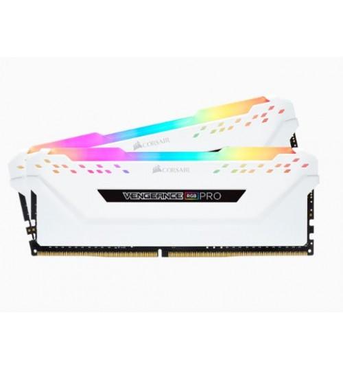 CORSAIR CMW16GX4M2C3200C16W DDR4 3200MHZ 16GB 2 X 288 DIMM UNBUFFERED VENGEANCE RGB PRO WHITE HEAT SPREADER RGB LED 1.35V