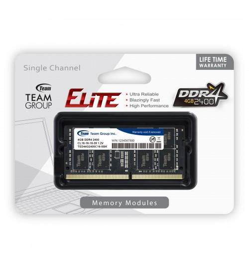 TEAM ELITE DDR4 4GB 2400 CL16-16-16-39 1.2V SODIMM