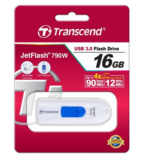 TRANSCEND 16GB JetFlash 790 White