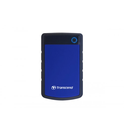 TRANSCEND STOREJET 25H3 2.5 INCH USB 3.0 EXTRA-RUGGED 1000GB (1TB) EXTERNAL HARD DISK DRIVE (BLUE)