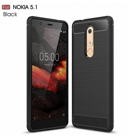 Nokia 5.1 case rugged case with carbon fiber