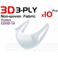 Face Mask 10 pcs 3D Full Protection 3-ply