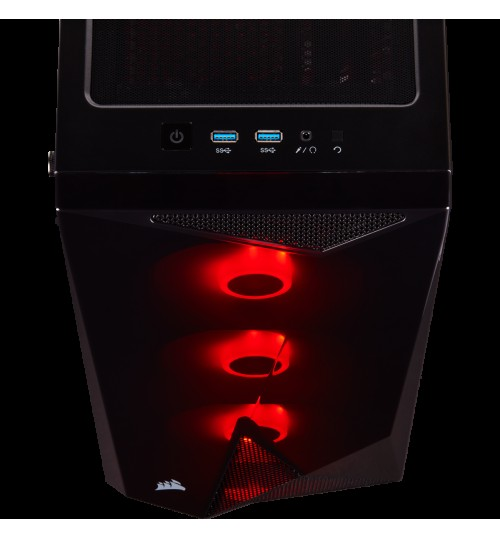 CORSAIR CARBIDE SERIES SPEC-DELTA RGB TEMPERED GLASS MID-TOWER ATX GAMING CASE - BLACK