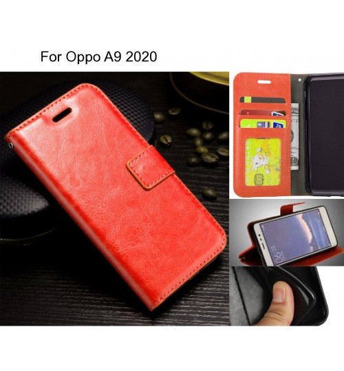 Oppo A9 2020 case Fine leather wallet case