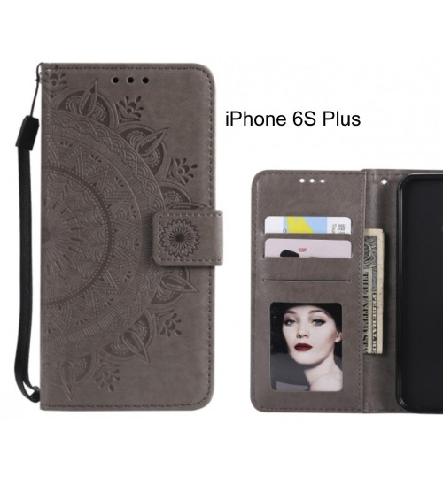 iPhone 6S Plus Case Leather Wallet Case Mandala Embossed