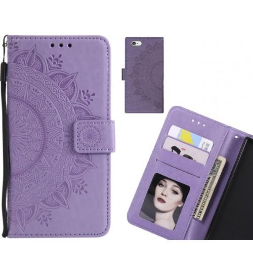 iPhone 6S Plus Case Leather Wallet Case Mandala Embossed