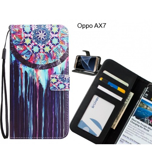 Oppo AX7 case 3 card leather wallet case printed ID